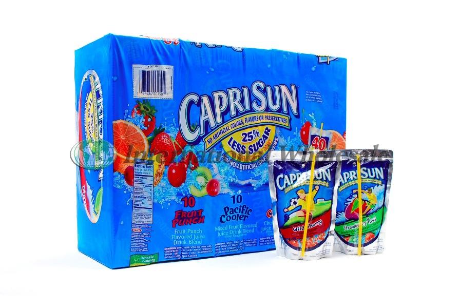 Capri Sun Fruit Juice Pouch Asst 4 Ct 10 Pk At