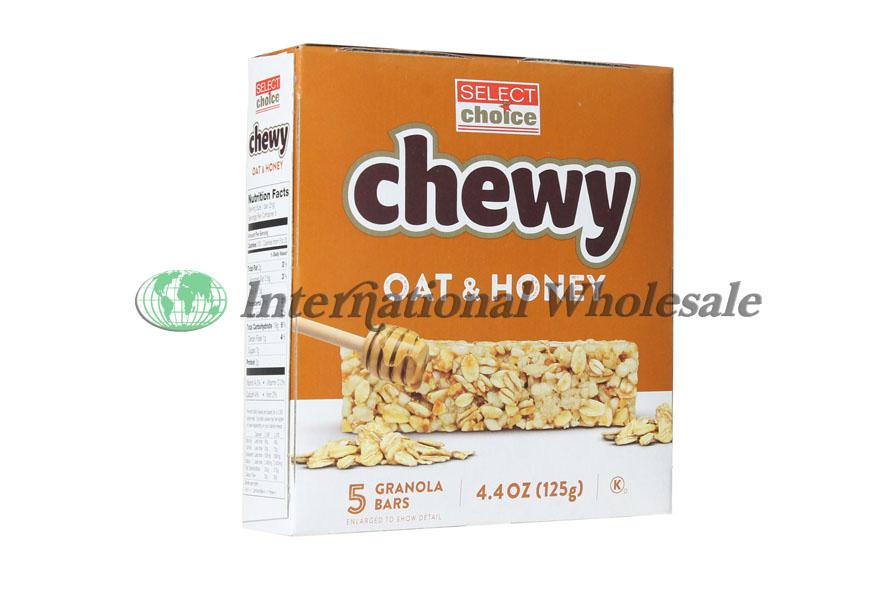 Select Choice Chewy Granola Bars Oat Amp Honey 16 4 4 Oz 5pk
