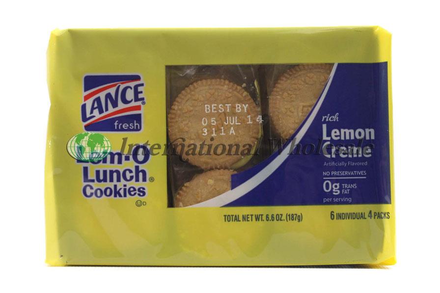 Lance Cookies Lem O Lunch 12 6pk 6 6 Oz Wholesale