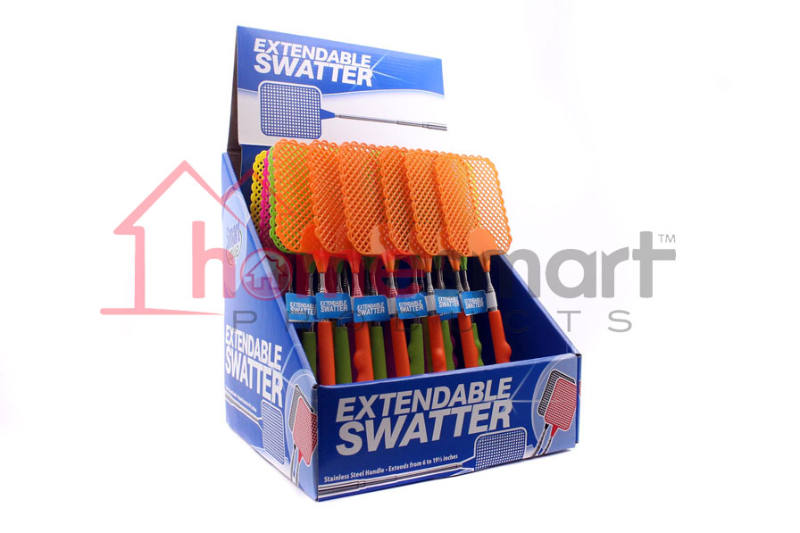 Extendable Fly Swatter Ast Smart Value 24ct Wholesale