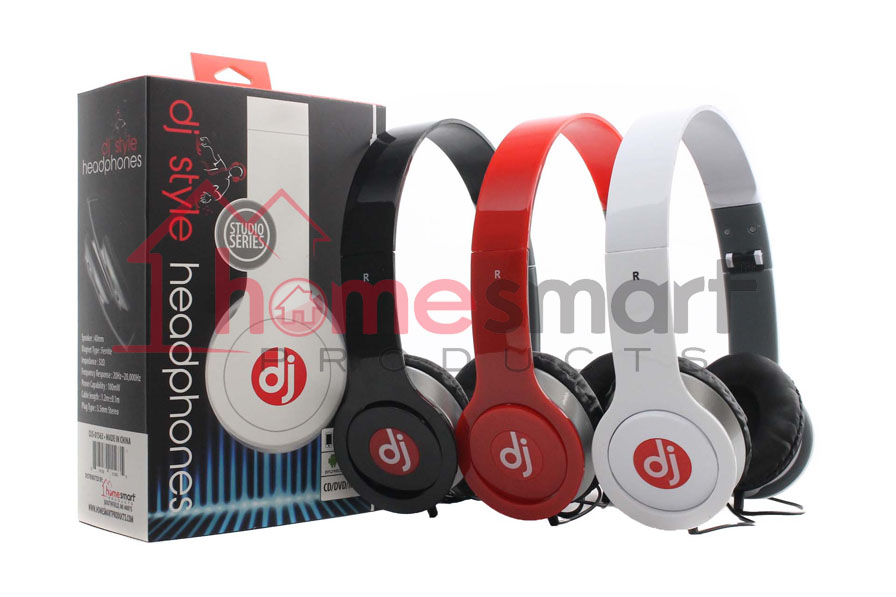 Headphone W Microphone And Volume Control Ast Dj Style