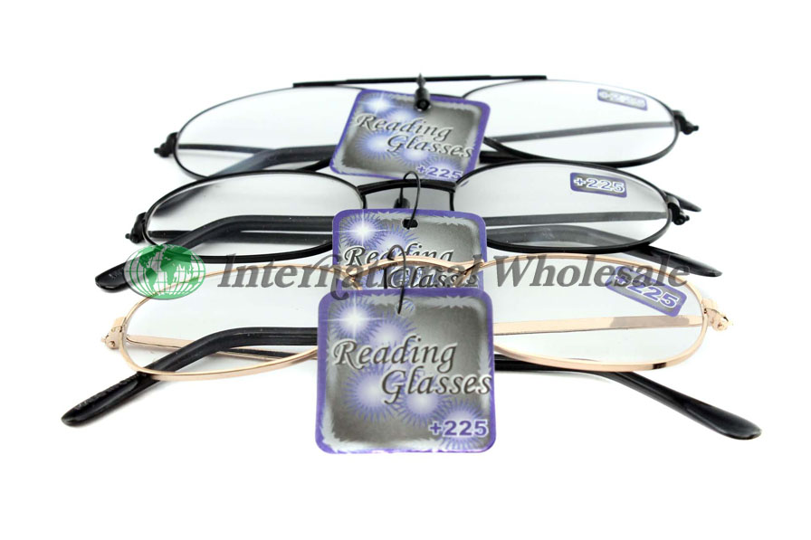 Reading Glasses Metal 225 Ast 12ct Wholesale Wholesale