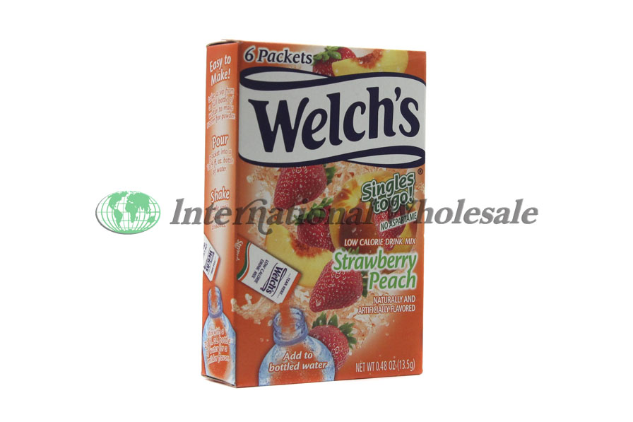 Welch S Singles To Go Strawberry Peach 12 6 Pk Wholesale