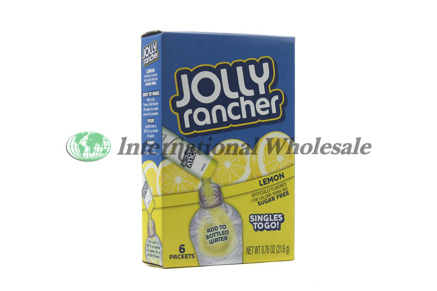 Jolly Rancher Singles To Go Lemon 12 6 Pk Wholesale