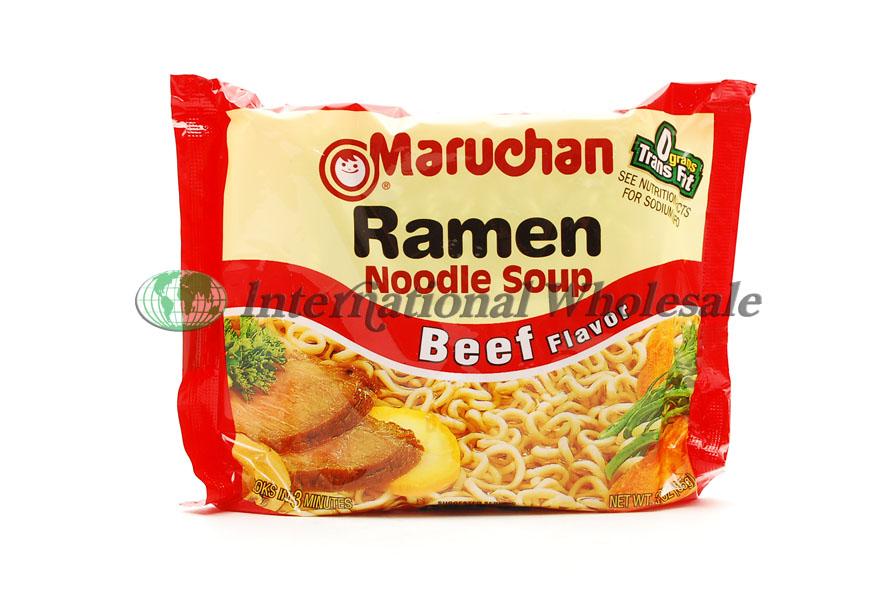 Wholesale Maruchan Ramen Noodle Soup Beef 24ct 3 Oz