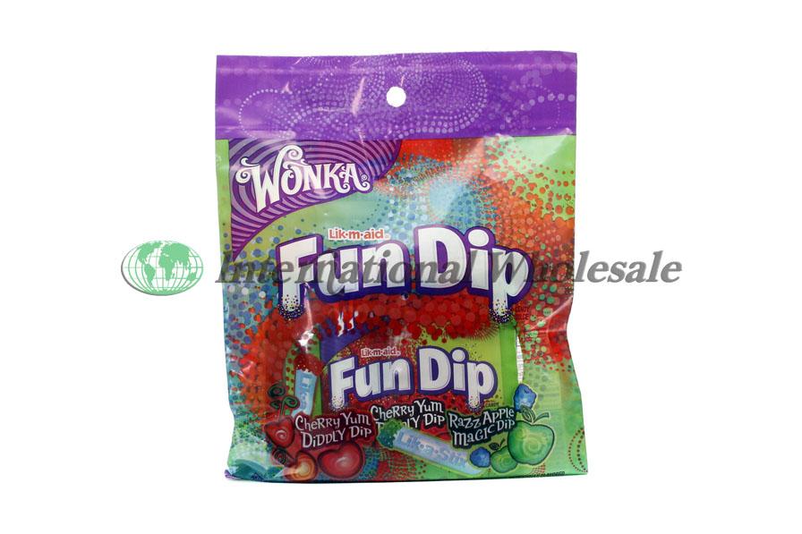 Wholesale Wonka Lik M Aid Fun Dip Peg Bag 12 3 5 Oz
