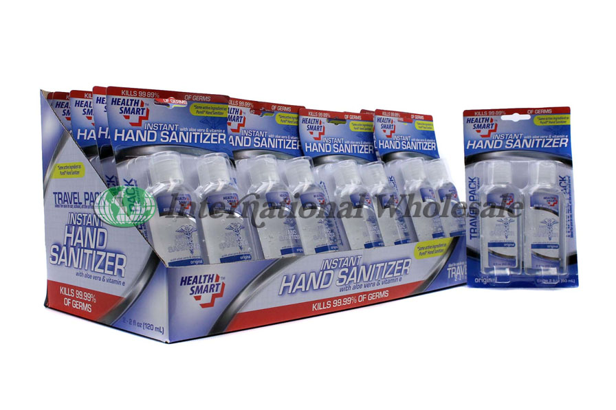Wholesale Hand Sanitizer Clear 2pk Health Smart 24ct 2oz