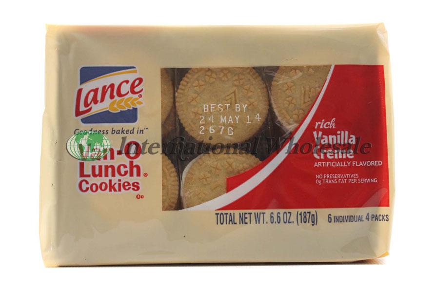 Lance Cookies Van O Lunch Rich Vanilla Creme 12 6pk 6 6 Oz