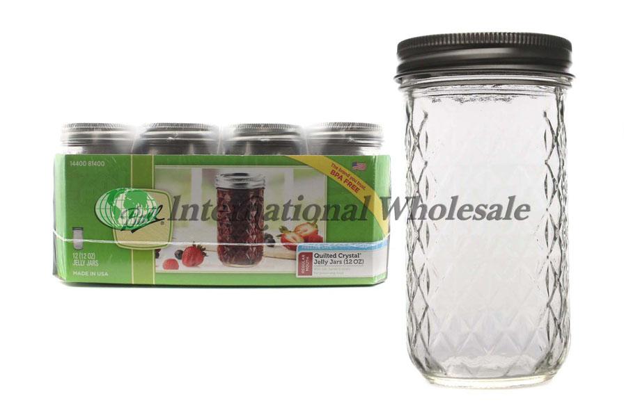Ball Quilted Crystal Mason Jar 12 12 Oz Wholesale