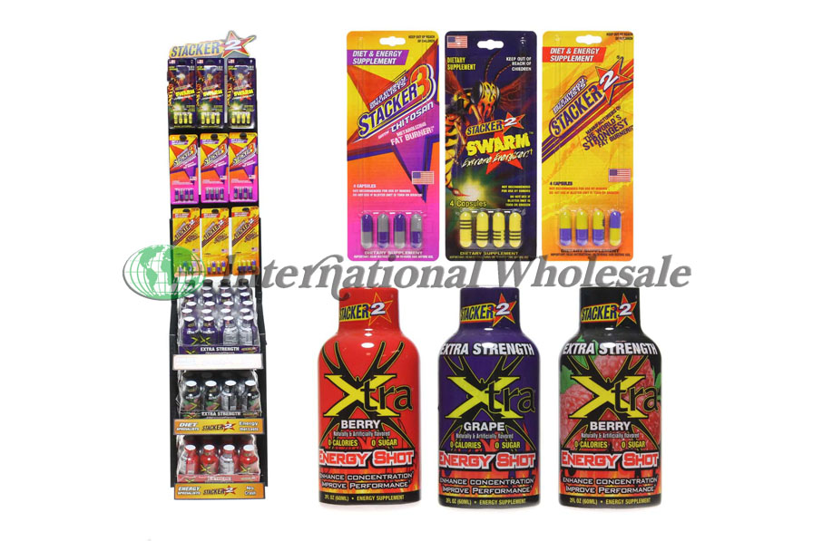 Wholesale Stacker Energy Shot Asst Dsp 108ct Suppliers